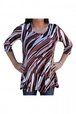2 Pocket Swing Tunic in Multi