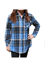 Plaid Shirt With Pockets in Blue