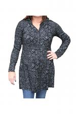 Full Zip Hooded Sweater in Black