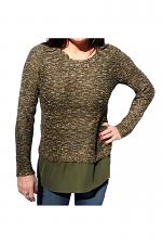 Boucle Knit Sweater in Oregano