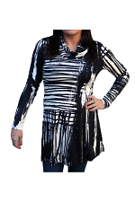 Cowl Neck Tunic With Print in Abstract