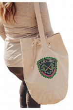 Forget-Me-Not Patch Duffel Tote