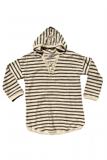 3/4 Sleeve Striped Hoodie