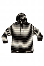Stripped Pull Over Hoodie