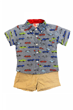 2 Piece Short Set with Cars