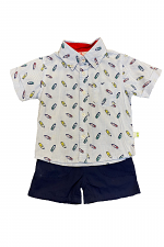 2 Piece Short Set with Boats