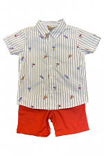 2 Piece Set with Sail Boats