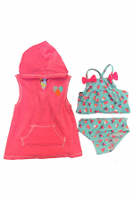 3 Piece Swimsuit with Cover-up