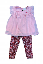 2 Piece Legging Set with Flowers