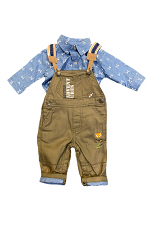 2 Piece Overall Set with Little Adventure