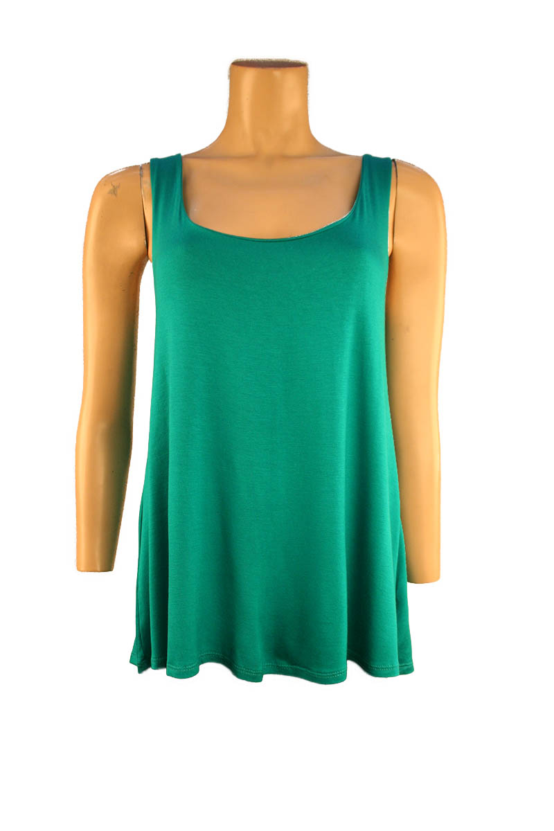 Tank with Twist Back in Jade