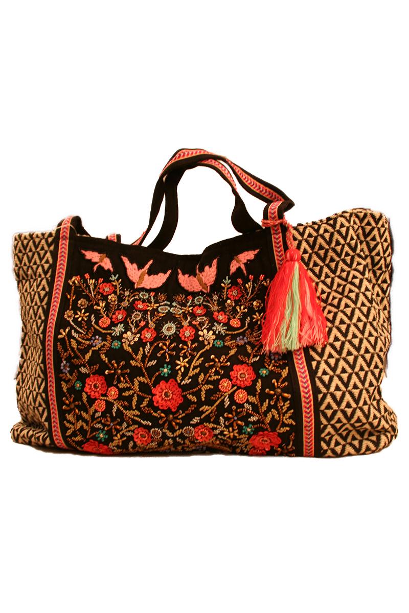 Floral Embellished Bag