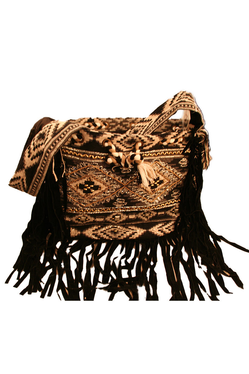 Embellished Drawstring Bag