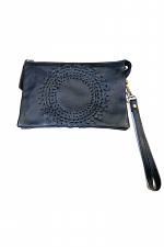 Leather Galaxy Clutch