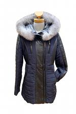 Nylon & Leather Puffer Jacket