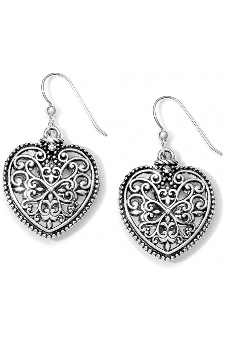 Florence Heart French Wire Earrings