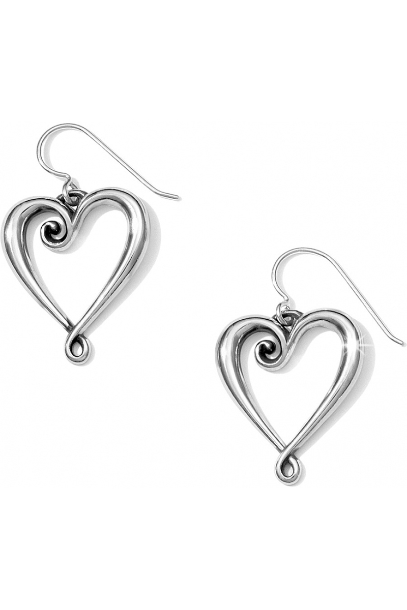 Whimsical Heart French Wire Earrings