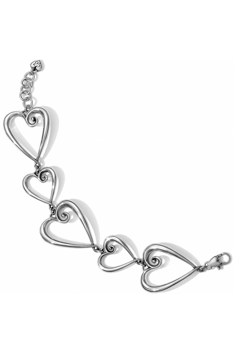 Whimsical Heart Link Bracelet