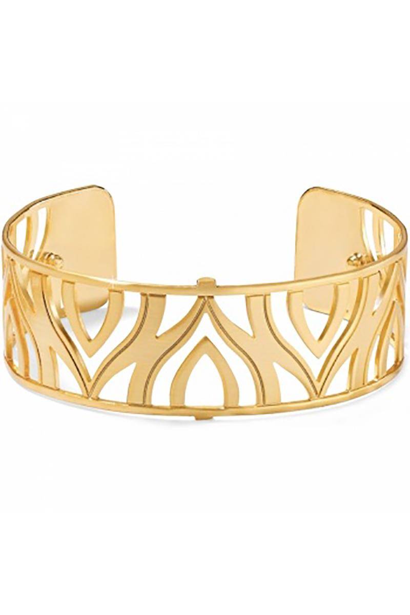 Christo Moscow Narrow Cuff Bracelet in Gold