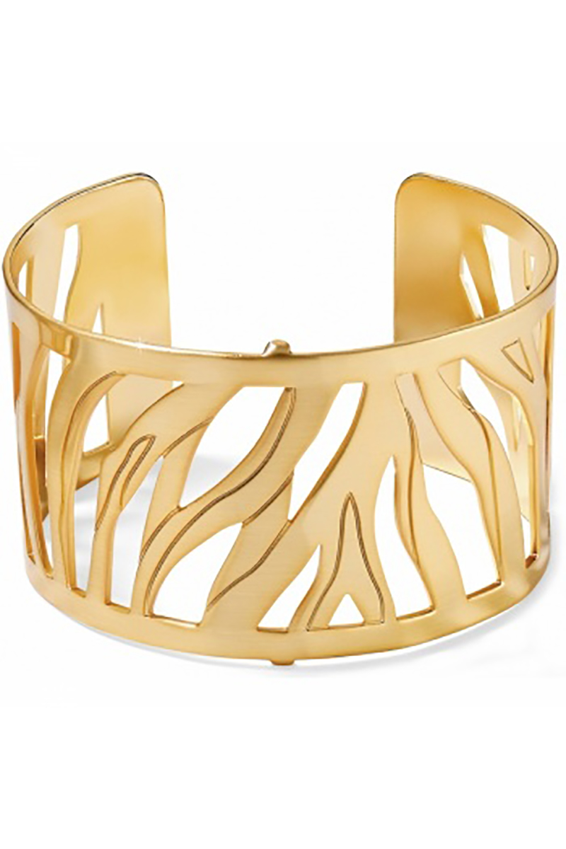 Christo Johannesburg Wide Cuff Bracelet in Gold