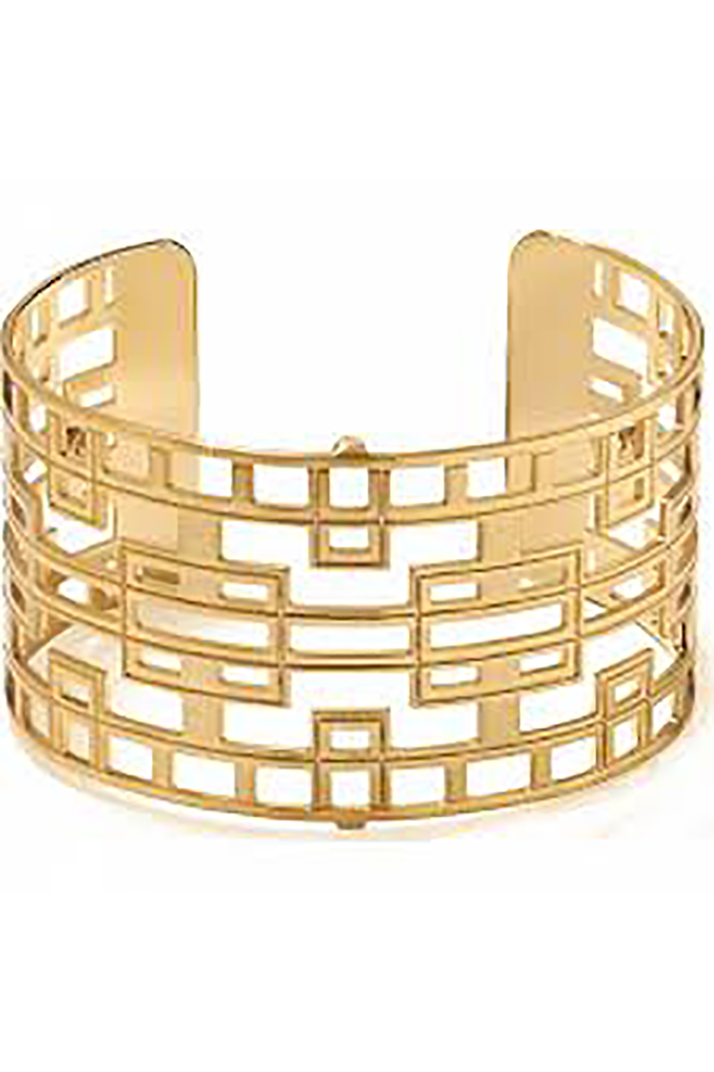 Christo Lyon Wide Cuff Bracelet in Gold