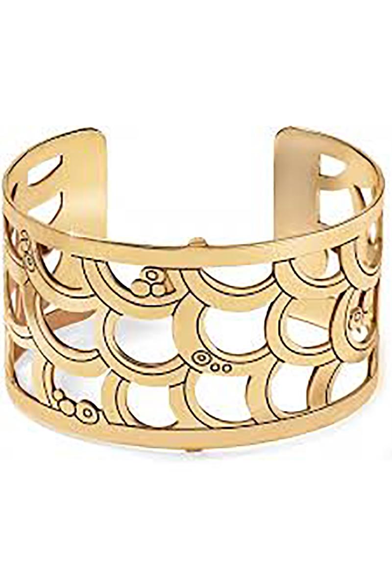 Christo Tokyo Wide Cuff Bracelet in Gold