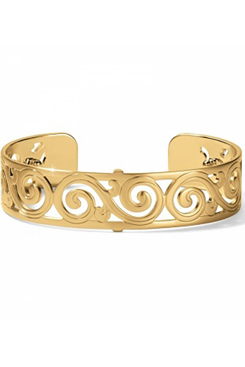 Christo Barcelona Slim Cuff Bracelet in Gold