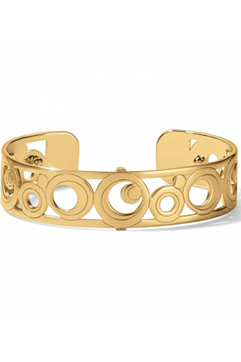 Christo Maui Slim Cuff Bracelet in Gold