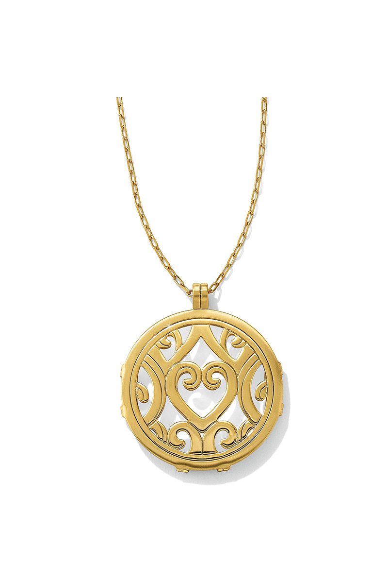 Christo Madrid Round Necklace in Gold