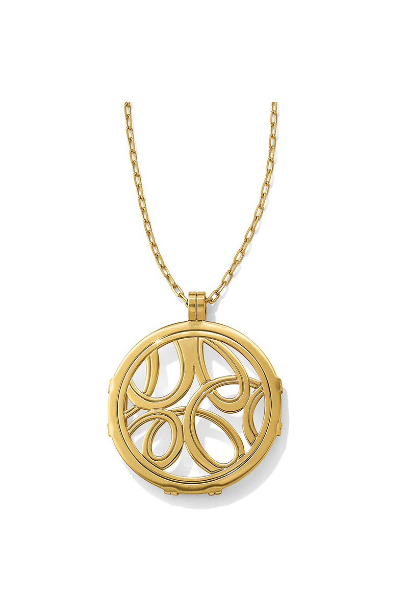Christo Vienna Round Necklace in Gold
