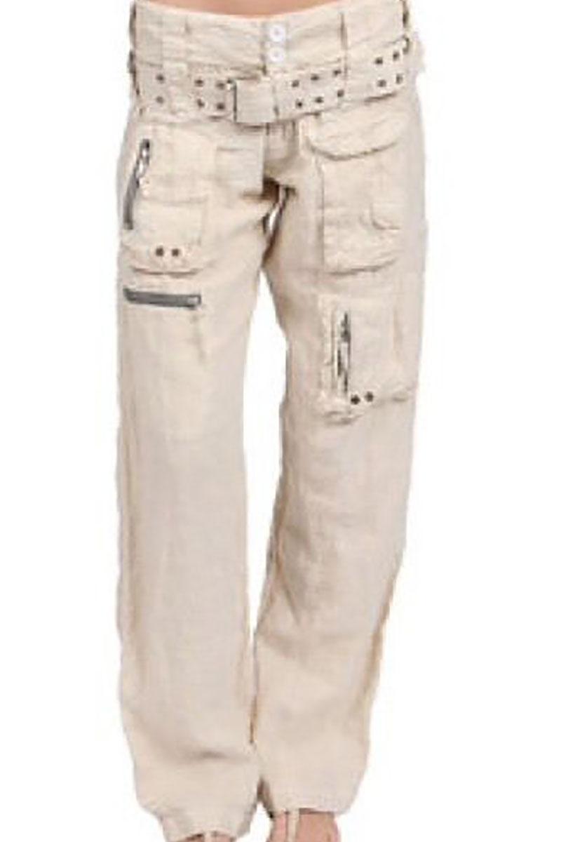 Poplin Cargo Pant in Bleached