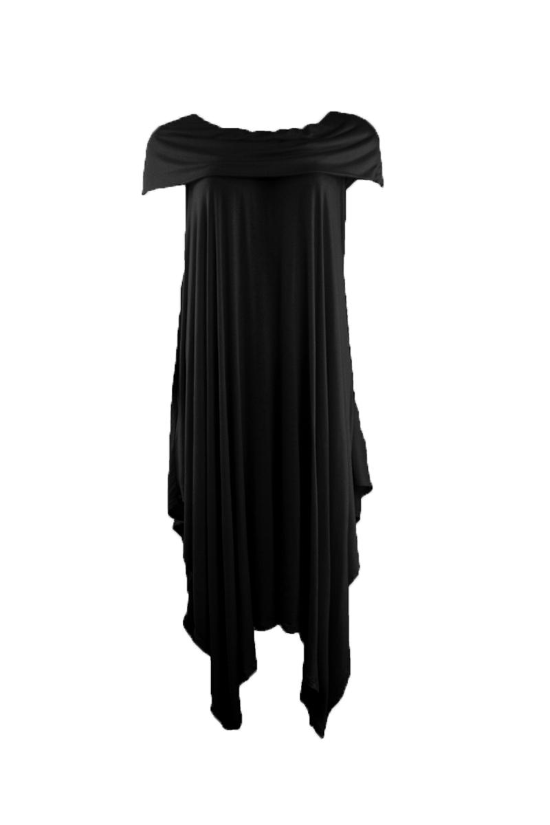 Off Shoulder Bandeau Dress in Black