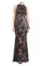 Mock Neck Sleeveless Dress in Black