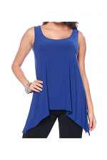 Back V-Neck Tank in Blueberry