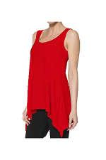 Back V-Neck Tank in Red