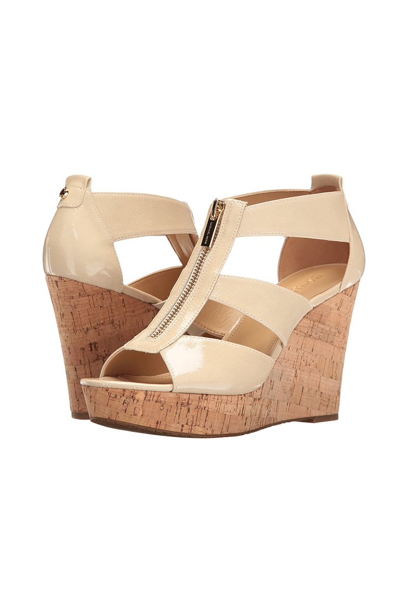 Damita Wedge in Ecru