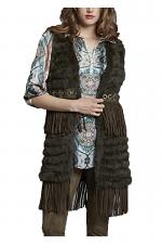 Rabbit Fringe Vest