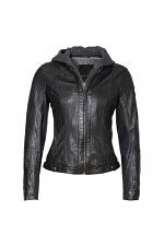 Yoa SF Hooded Leather Jacket