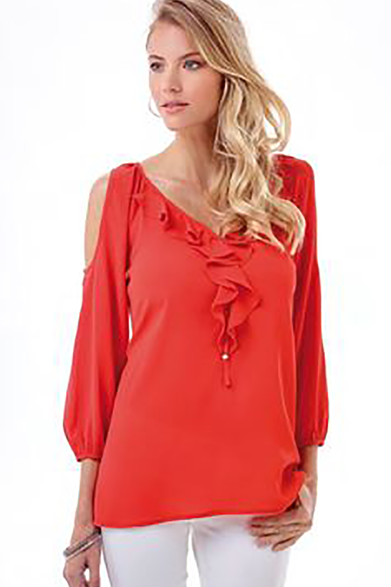 Cold Shoulder Ruffle