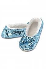 Ballerina Bling Metallic Shine Womens Cozy Sequin Slippers