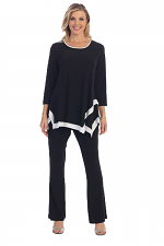 Swing Tunic With White Bottom in Black & White