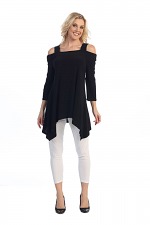 Cool Shoulder Tunic in Black