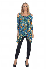 Cool Shoulder Tunic in Multi