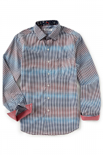 Coasta Ikat Pima Cotton Long-Sleeve Woven Shirt