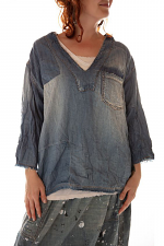 Cotton Denim Basil Pullover
