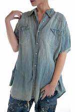 Cotton Denim MP Marfa Pearl Snap Workshirt