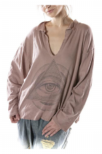 Cotton Jersey Eye Of Eternity Tory Pullover