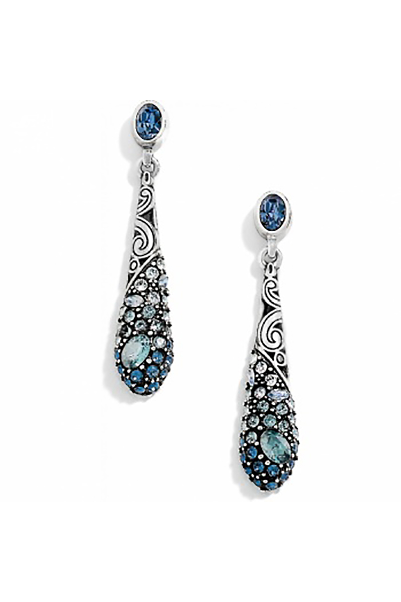 Crystal Voyage Teardrop Earrings