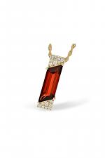 Garnet and Diamond Pendant Necklace