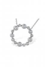 Circular Diamond Pendant Necklace